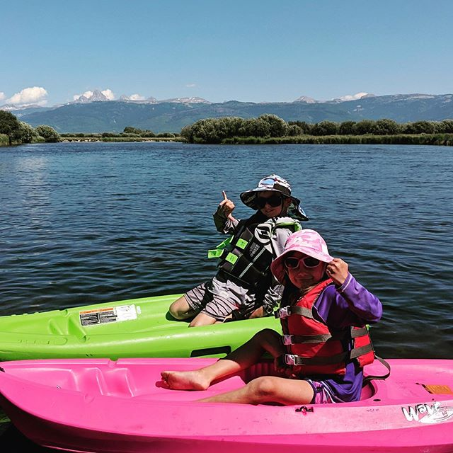 Not much better than an afternoon on the river.  #bringbacktheweekend #kidskayaking #tetons