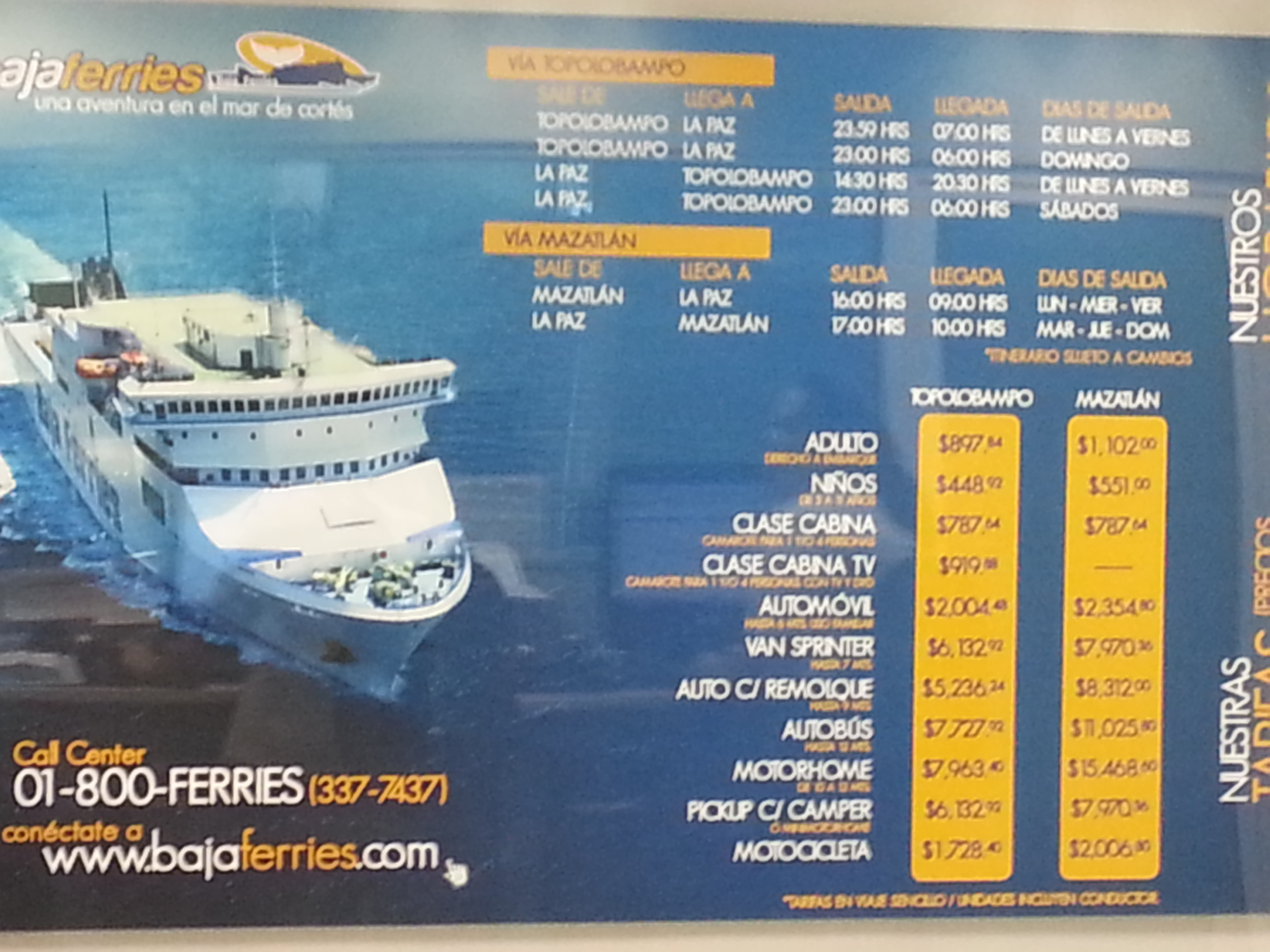 Interested? Here are the fares....