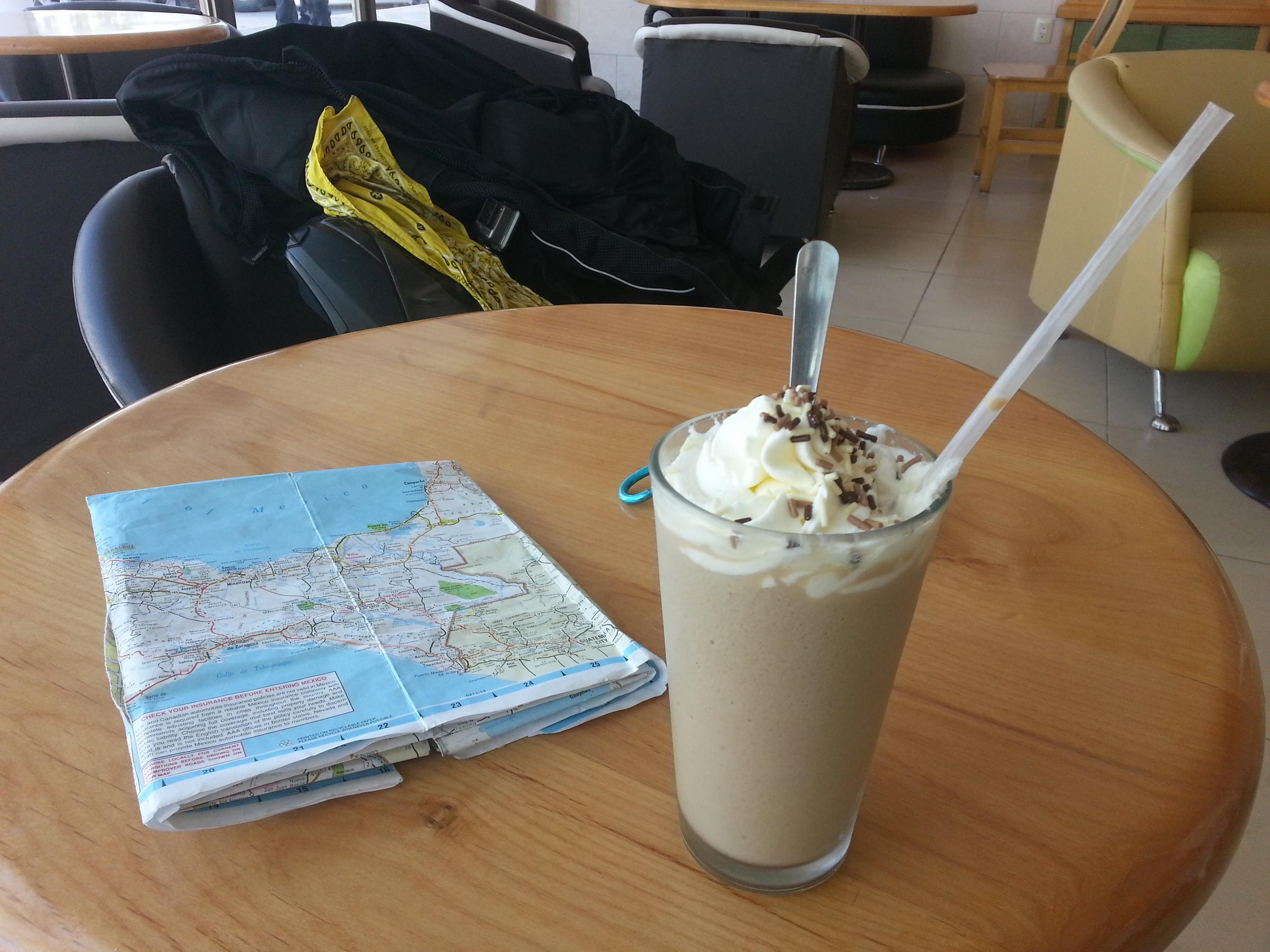 Quickie breakfast in Ciudad del Carmen.