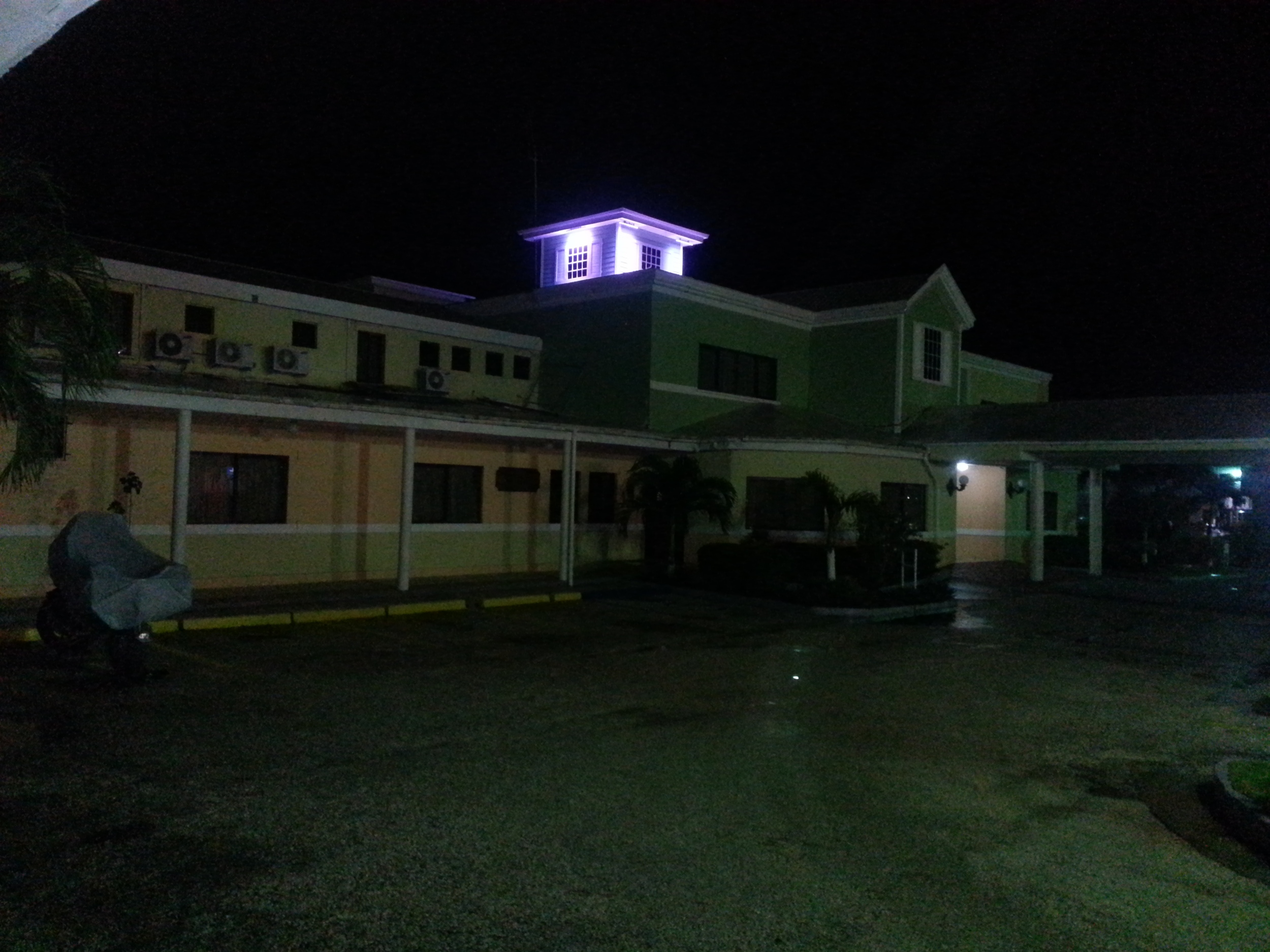 Raining again...at the Best Western Belize City.