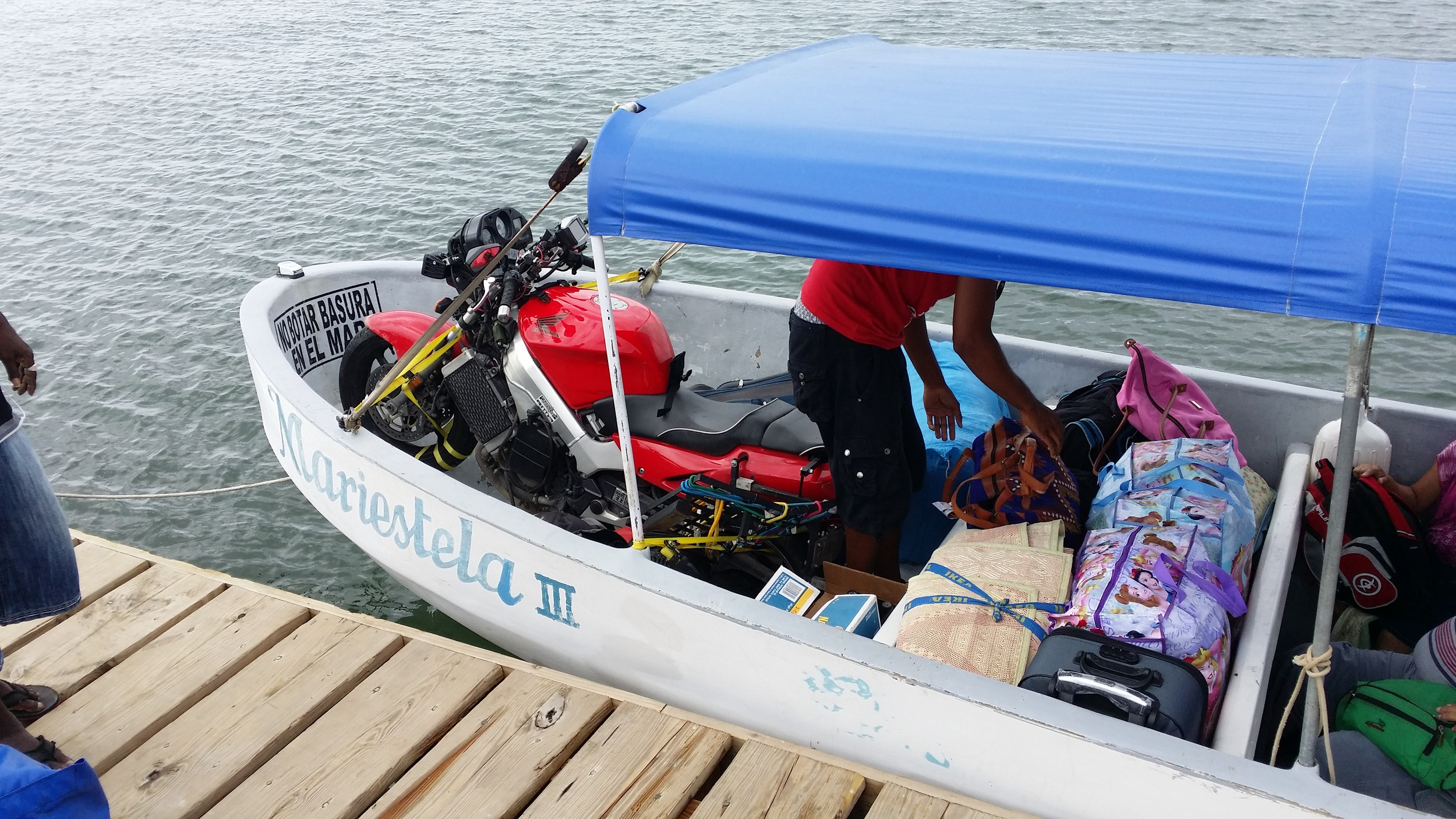 Paul's bike on the way from Belize to Guatemala...thanks for providing the photo, Paul.