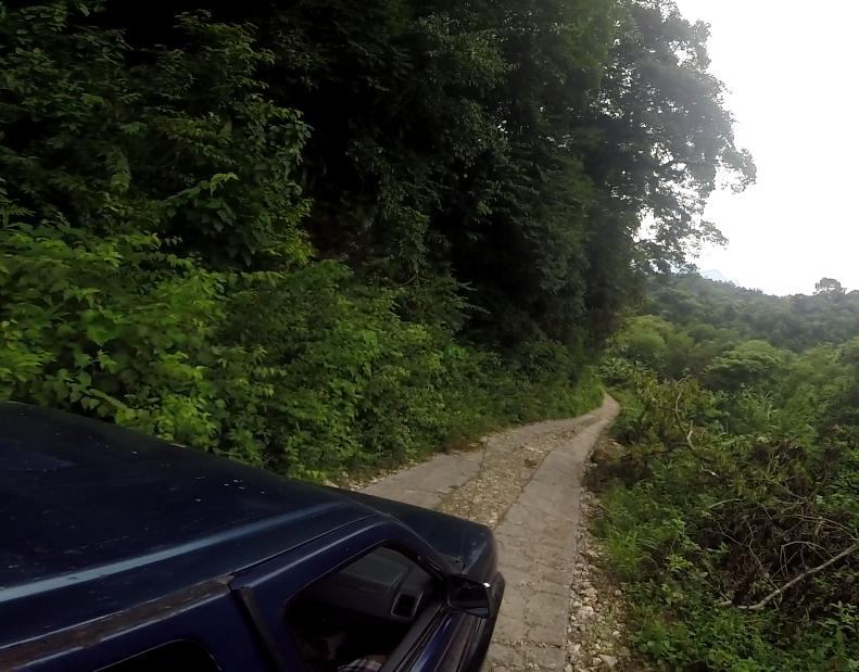 Narrow roads...beware of oncoming traffic.