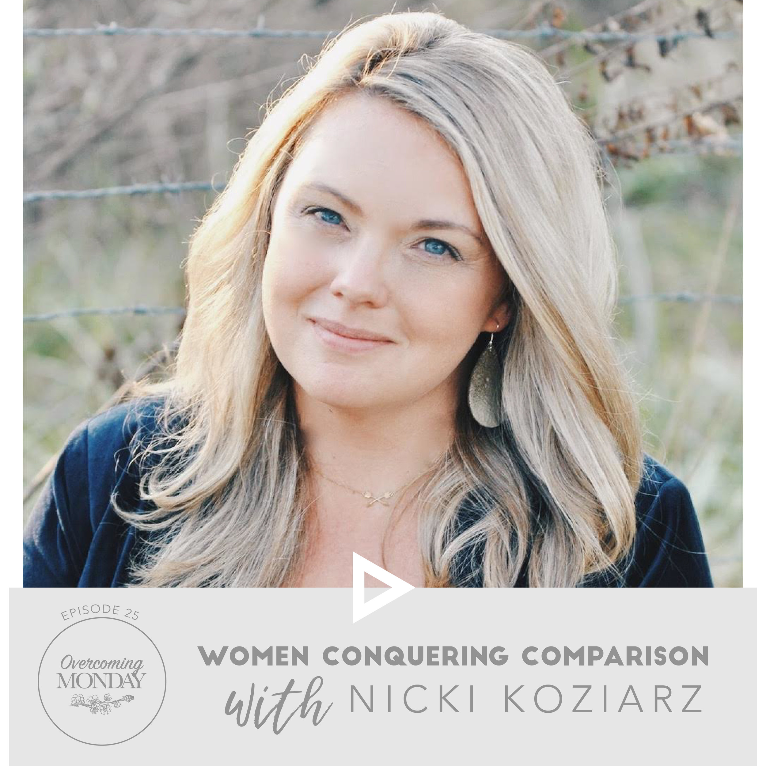 Giveaway - This week, I am giving you a chance to win Nicki's book, Why Her (and there may be other goodies included- just sayin'). All you have to do is subscribe to my blog, and then leave a comment below on the biggest way you fight comparison in your life.