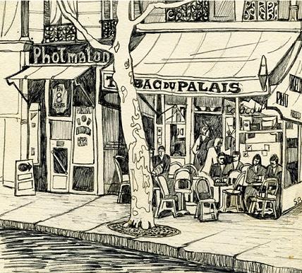 Tabac Oppoaite Palais de Justice- by Sylvia Plath