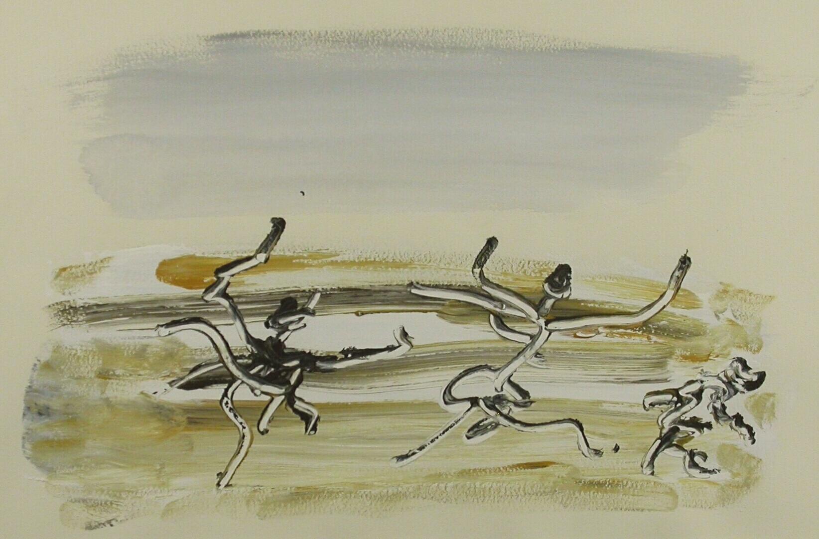 Henri Michaux painting