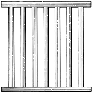 Balustrade    Product Code:  BS1-Slates  Dimensions:  19 x 42 mm   Product Code:  BS6-Squares  Dimensions:  42 x 42 mm