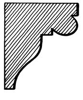 Eaves Bracket    Product Code:  EB5  Dimensions:  140 x 190 x 42 mm