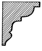 Eaves Bracket    Product Code:  EB6  Dimensions:  140 x 190 x 42 mm