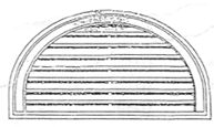 Semi Circle Gable Vents    Product Code:  GVHR  Dimension:  720 x 420 mm