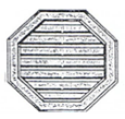 Hexagonal, Octagonal, Square Gable Vents    Product Code:  GVHX, GV)CT, GVSQ RESPECTIVELY  Dimension : 450 x 510 mm, 455 x 455 mm, 455 x 455 mm RESPECTIVELY