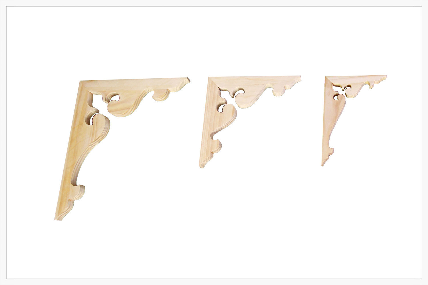 Corner Brackets (3 sizes)    Product Code:  CB-6, CB-6S, CB6ES  Thickness:  32  Dimensions:  440 x 530 mm, 325 x 325 mm, 310 x 200 mm RESPECTIVELY