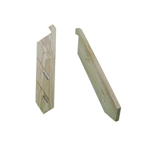 Stringers - LOSP Pine with Batten Screws   Product Code:  KLSTAIR  Made using 240 x 45mm LOSP Pine (environmentally friendly timber)   Measurements:   Height:  330mm  Width:  900mm wide – 5400mm wide  TREADS NOT INCLUDED