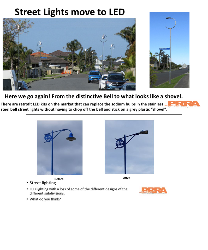 What do you think of the streetlight upgrade and removal of the distinctive designs of each subdivisions?