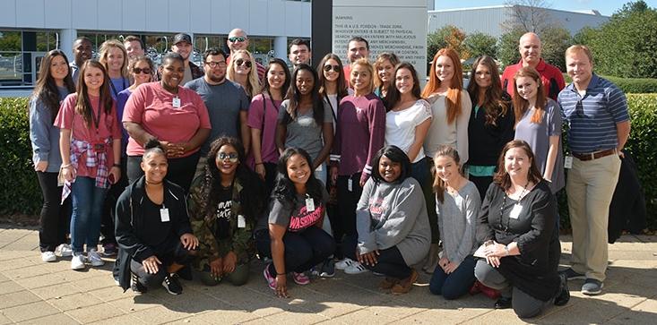 University of Alabama Assistant Professor Chandra Clark and her students