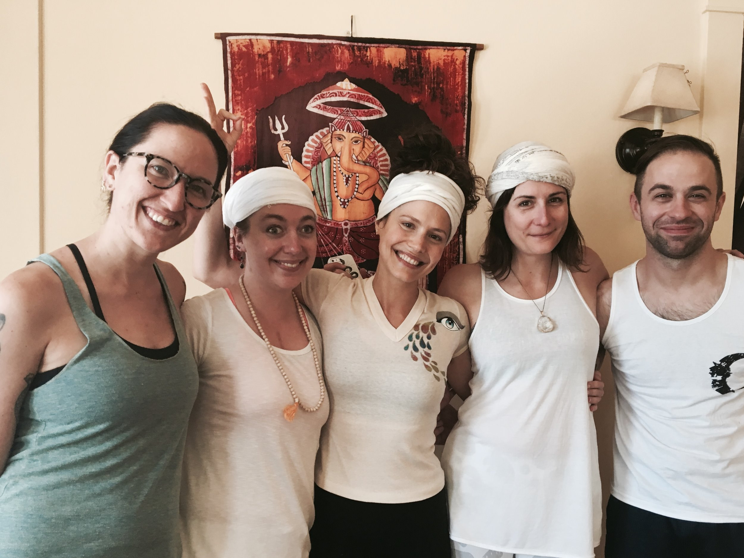 Marie C. and fellow Kundalini yogis following an amazing yoga class, taught by Marie.