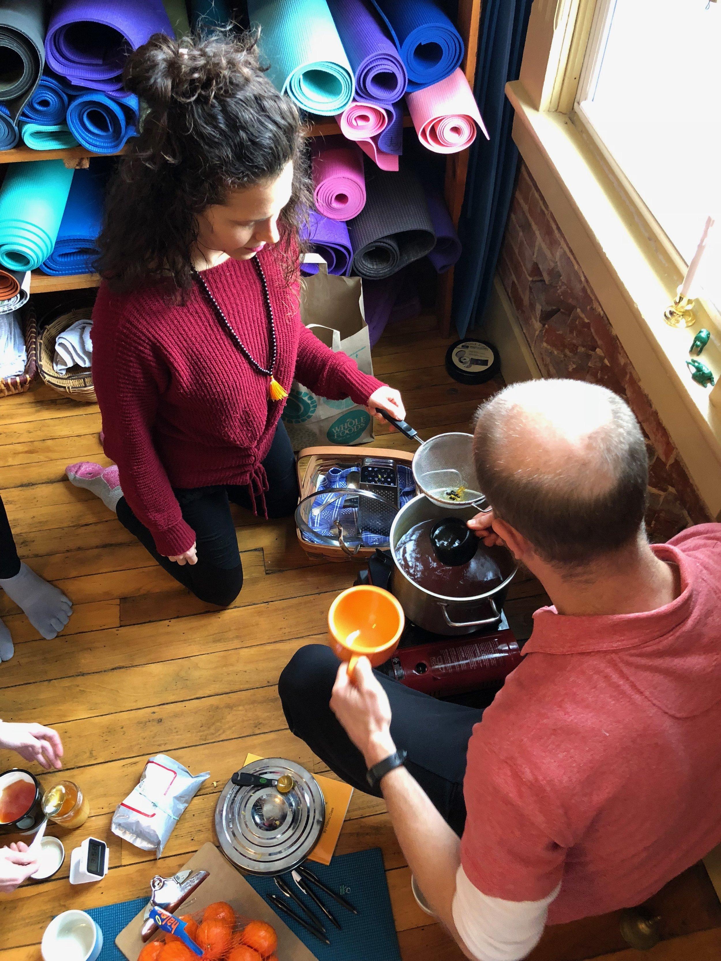Making agni tea_Ayurveda workshop_Firehorse Feb 2018.JPG