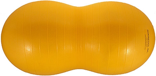 La pelota-maní es útil durante toda la infancia para los ejercicios de fortalecimiento muscular. Todavía la tenemos decorando la pieza de nuestra hija
