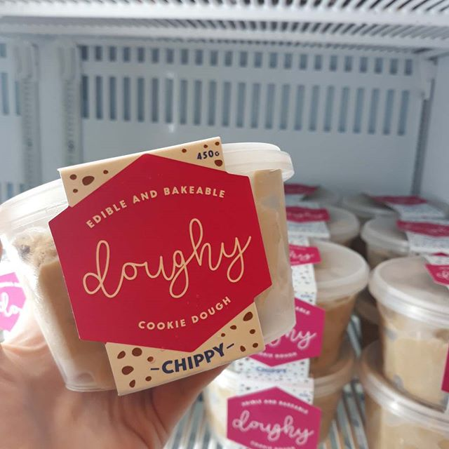 @doughy_cookiedough is now instore at Govita Robina! This yummy edible and bakeable cookie dough is egg free and vegan! Eat it raw! OR Bake for 10 minutes!