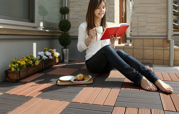 SYWPC adds diy decking tiles products, applaction in bathroom, swimming pool.