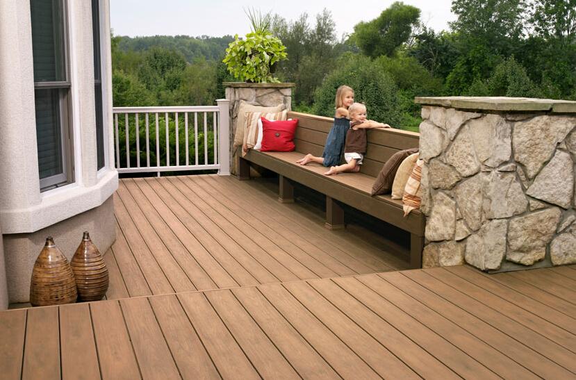 composite decking backyard
