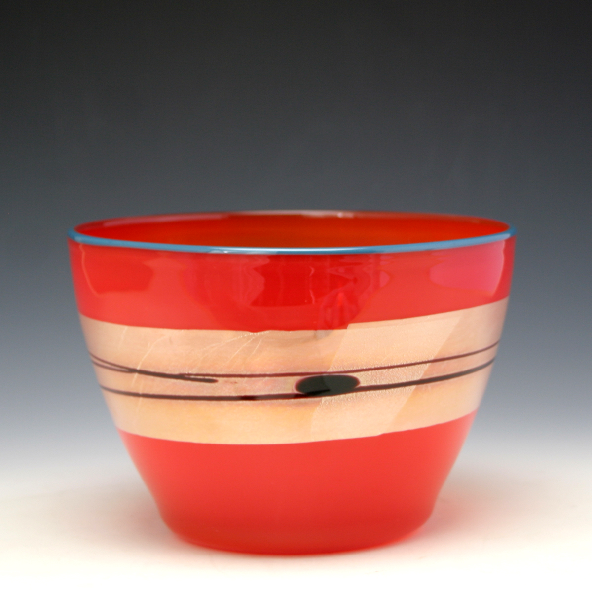 small enso bowl in red