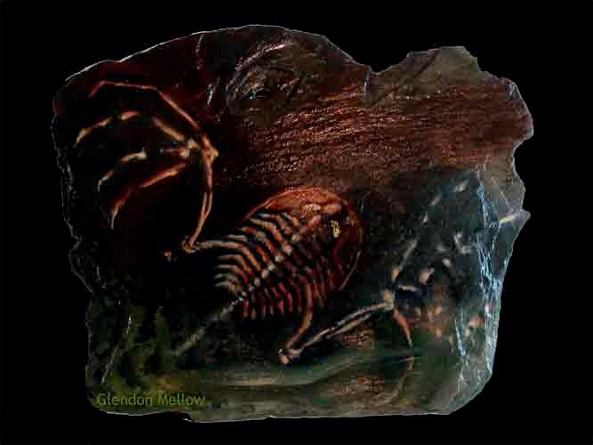 One of my first oil paintings on stone.