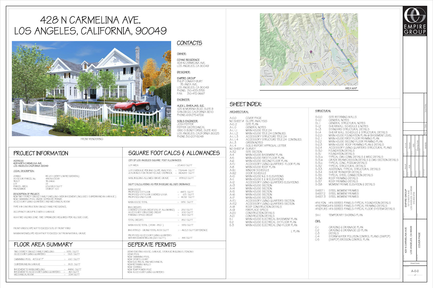 Brentwood Park Development Construction Drawings