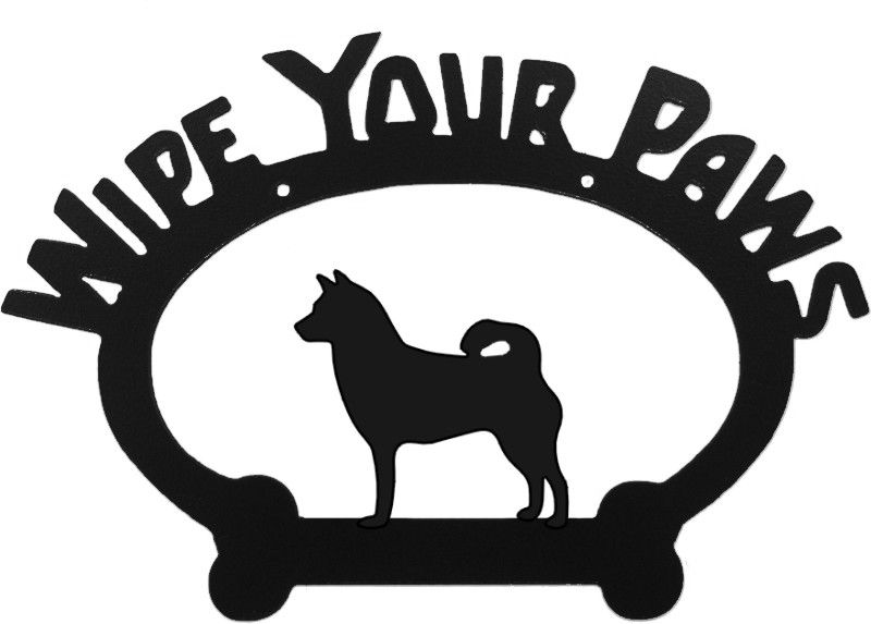 "Wipe Your Paws Plaque  Breed Specific   Size: 11.50"" x 8"""