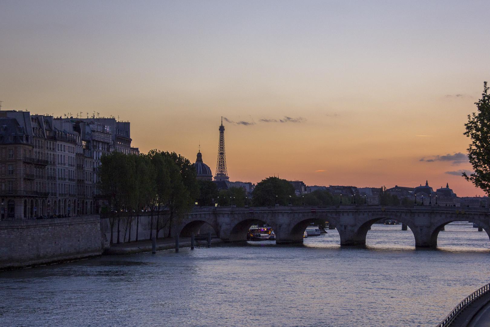 Seine River at Dusk