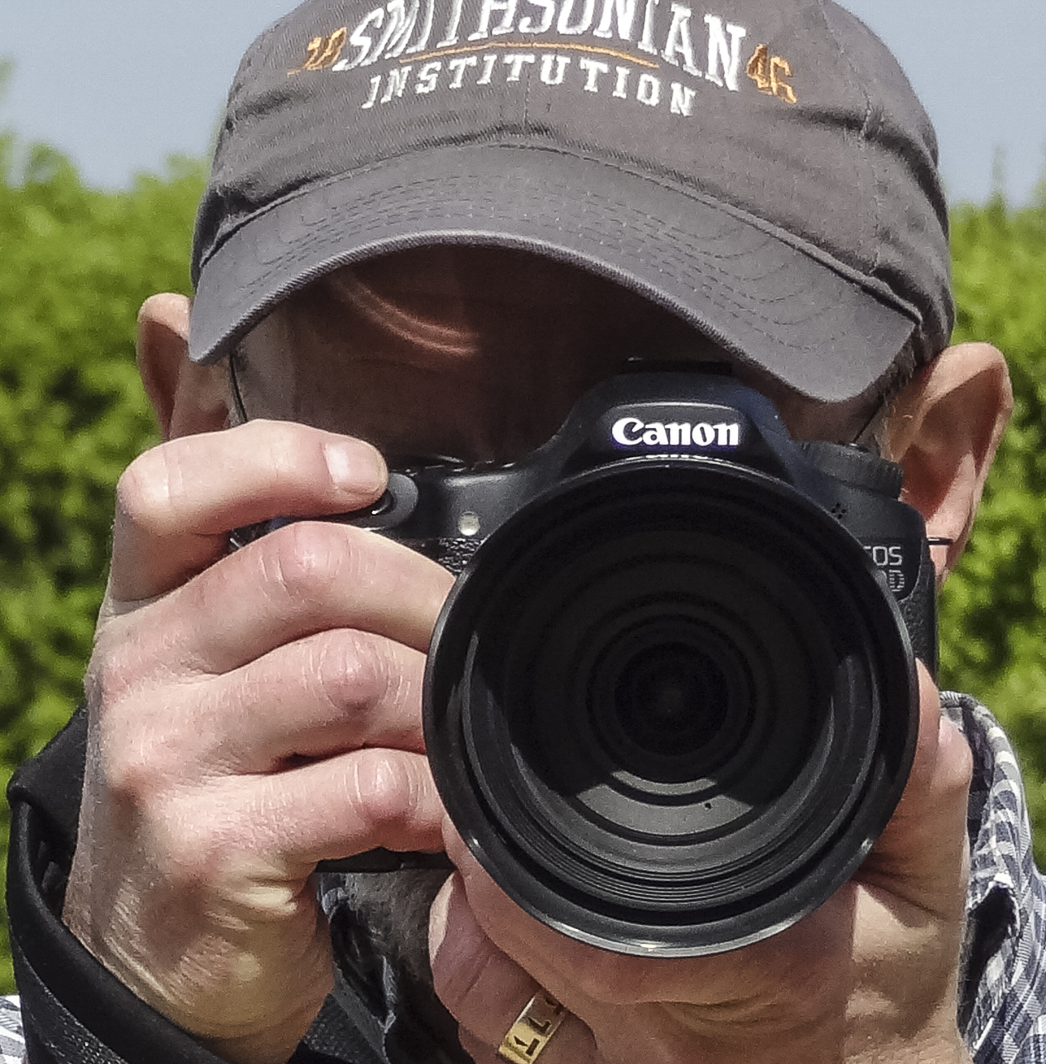 Dave with his trusty Canon 60D and the Sigma 24-105mm lens.