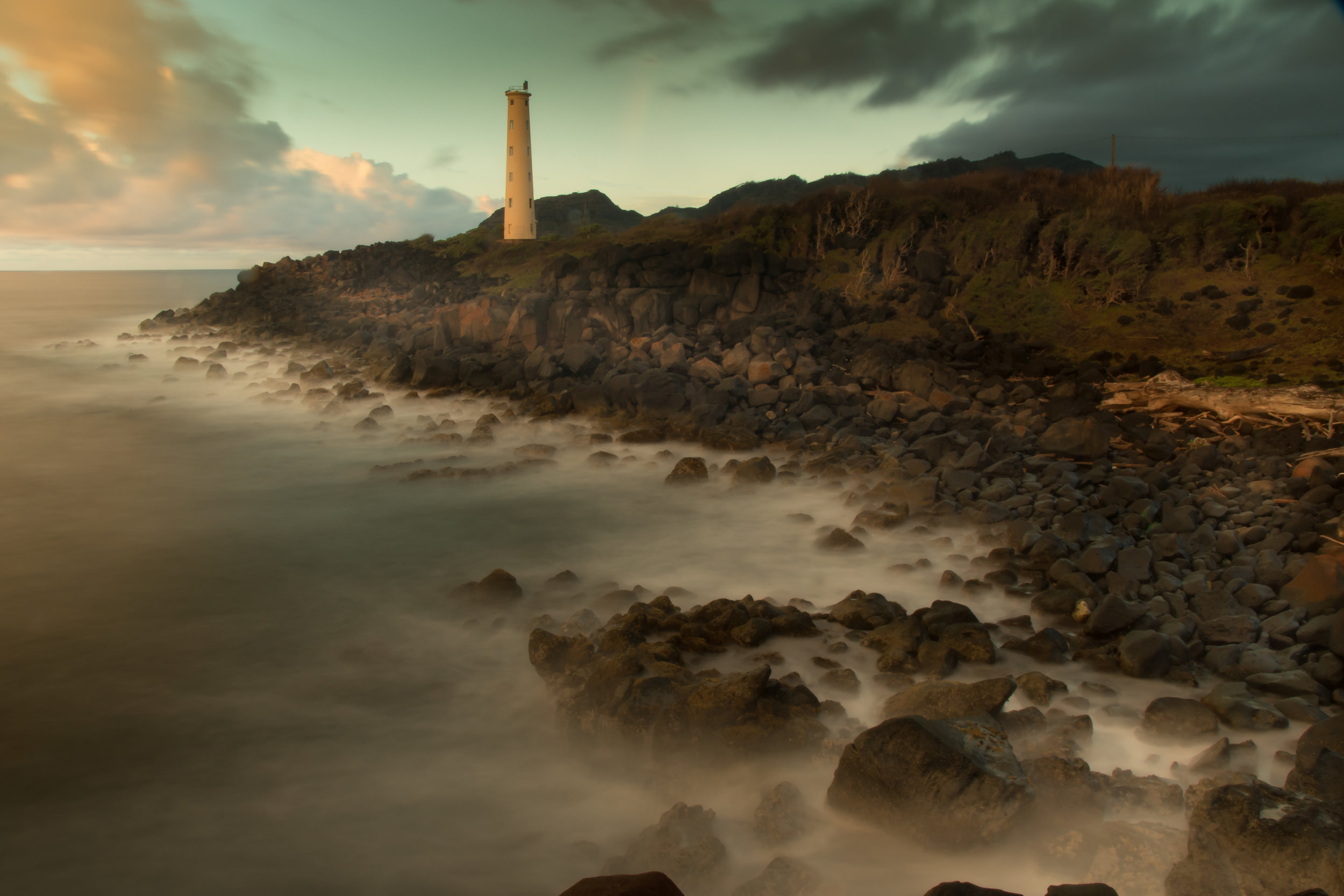 Lihue Lighthouse Sunrise Lighthouse at Sunrise L46A5708.jpg