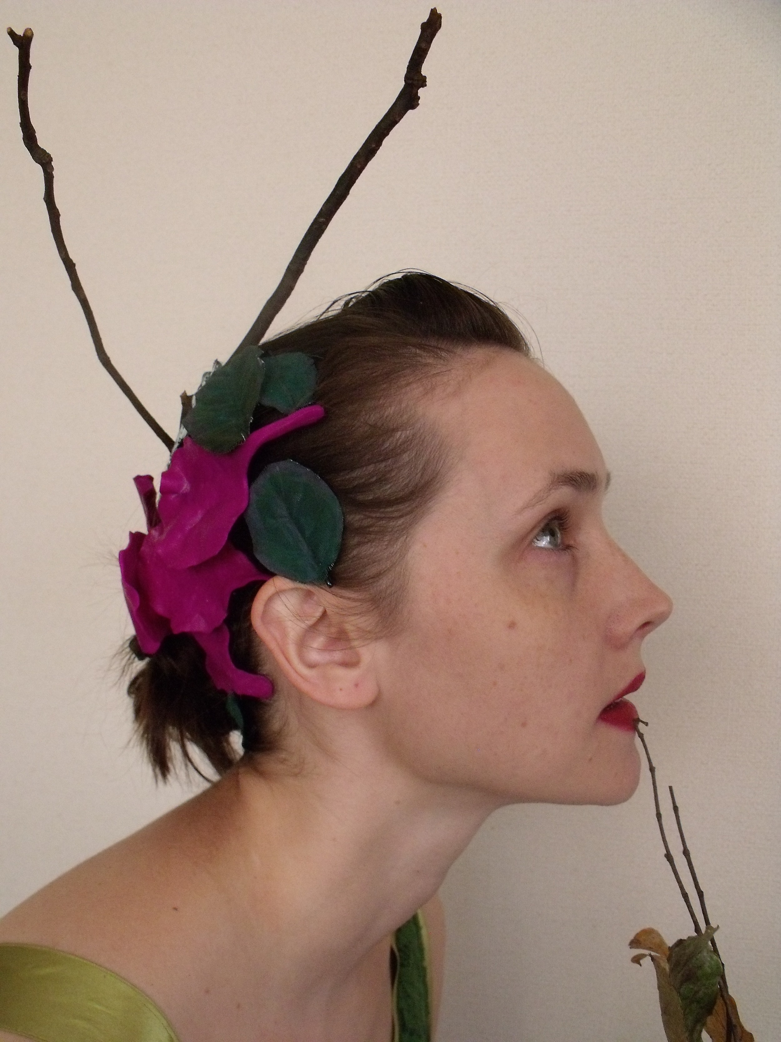 Head pieces which I made years ago.