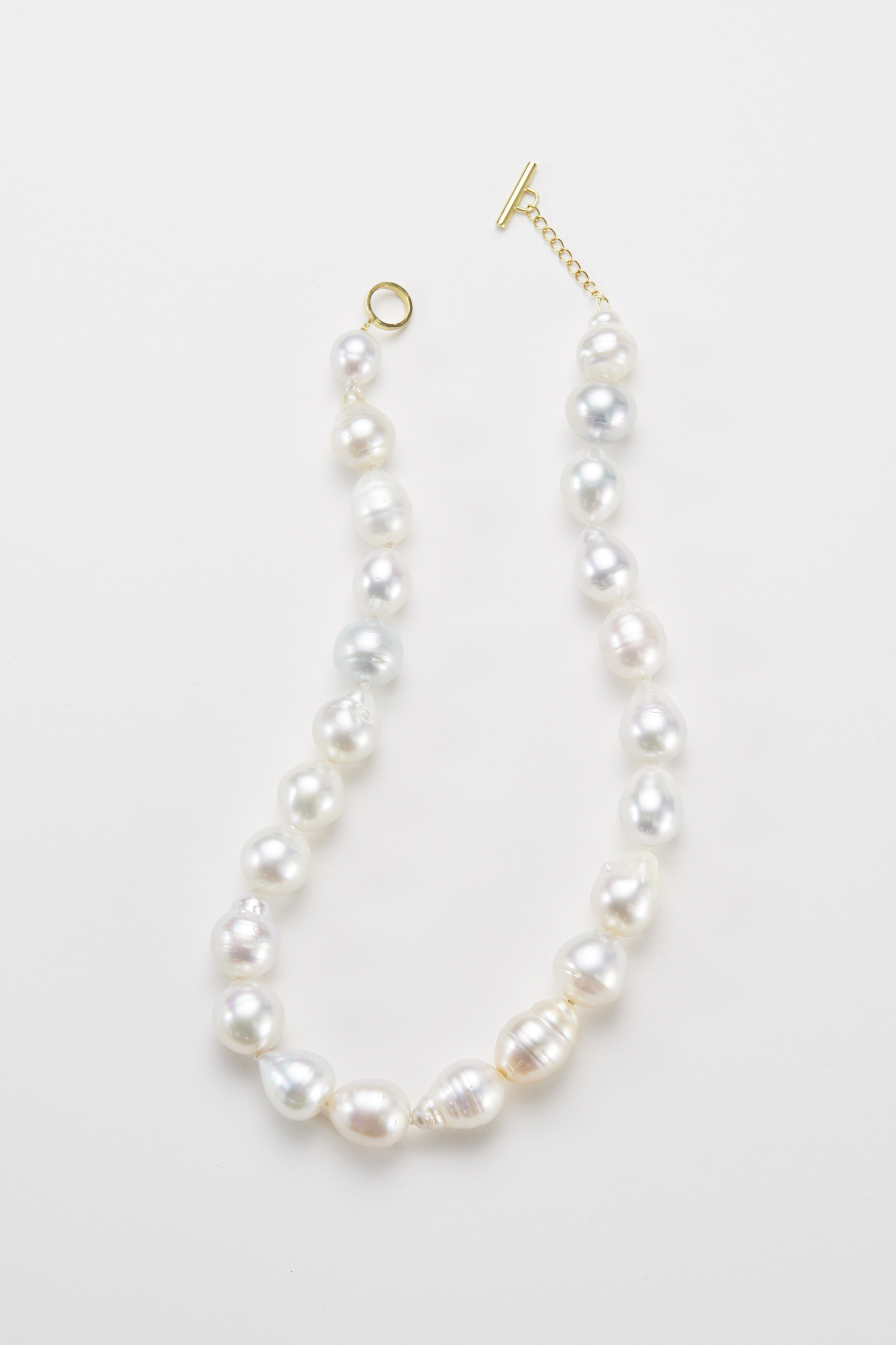 South sea pearl necklace/white. 18ct gold -N300047