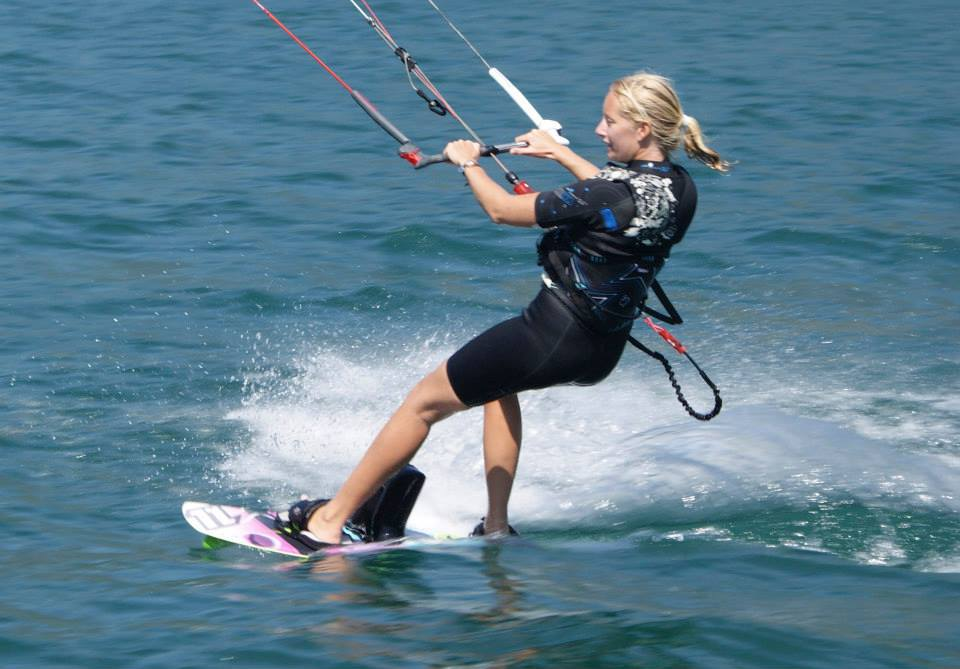 kitesurf test lesson at Limone, lake Garda