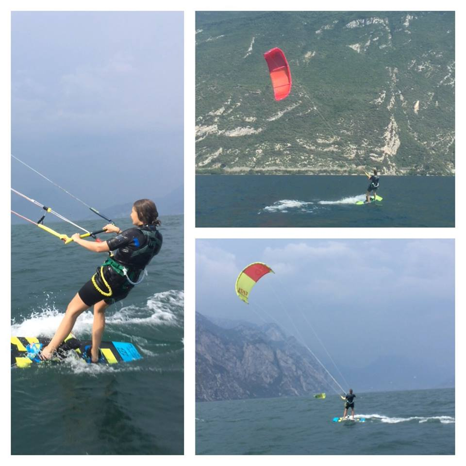 kitesurf les op het Gardameer, italie