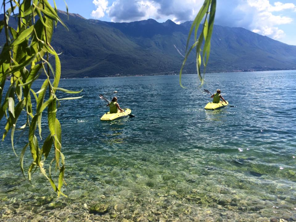Kayak tour with Limone Watersports