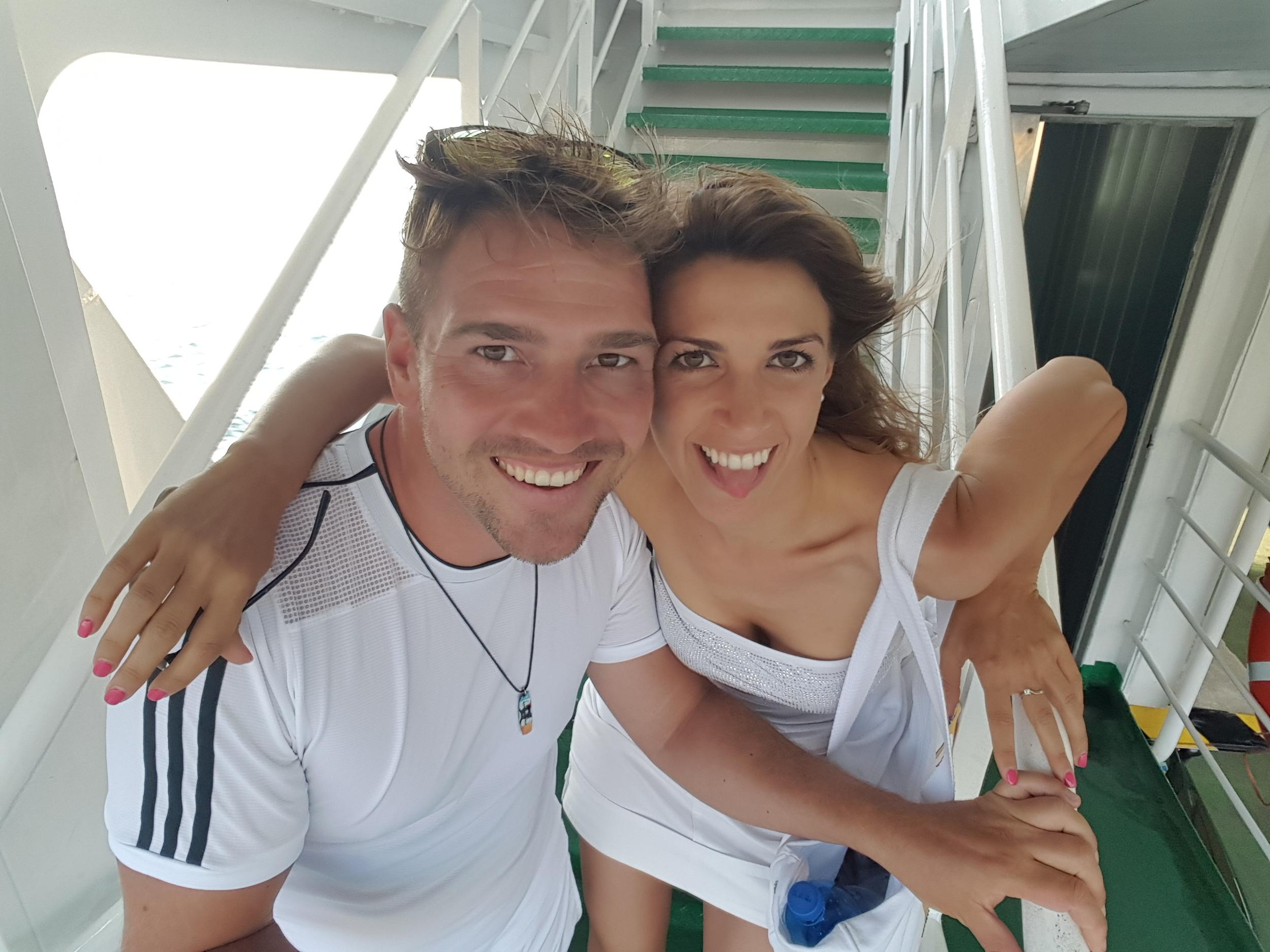Limonewatersports lake garda Italy Robbie & Monica