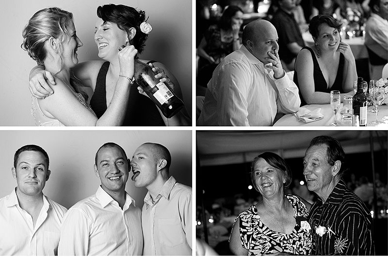 (ABOVE) -Just a few from the reception.  Will & Rona- great friends of ours- good to have pics of those guys (travelled from UK). My school mates from Mt Larcom School days- travelled from San Fran & Sydney. My parents dancing & having a good time.