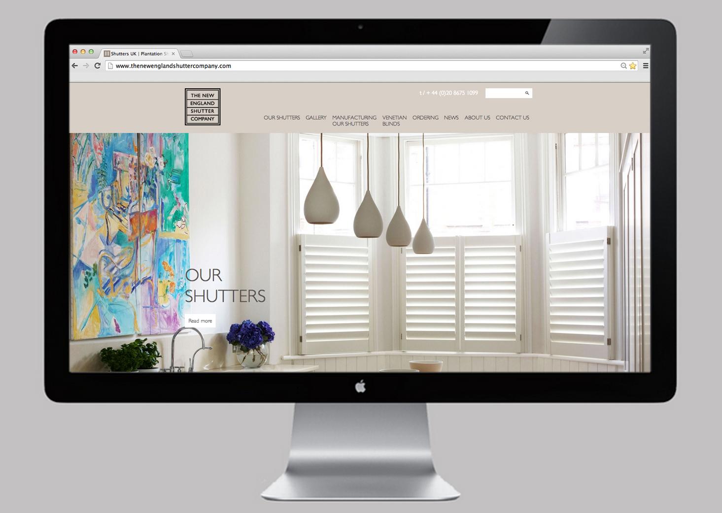 The New England Shutter Company Website
