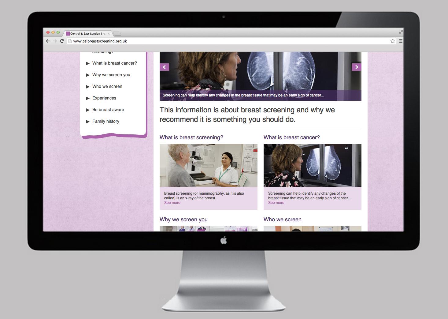 NHS Breast Screening website