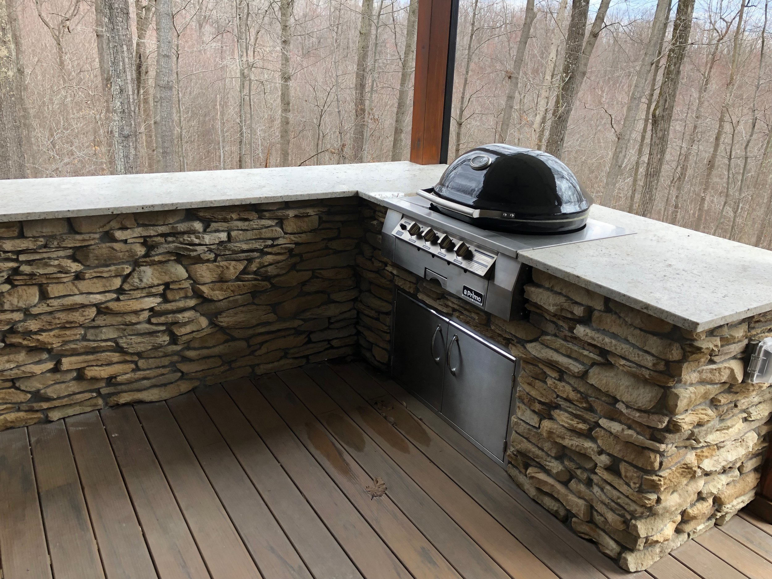 Grill area off 2nd floor deck.