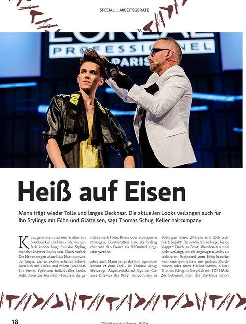 Maximilian @ DOPAMIN Modelagentur Düsseldorf & Berlin – L'Oreal – TOP HAIR International