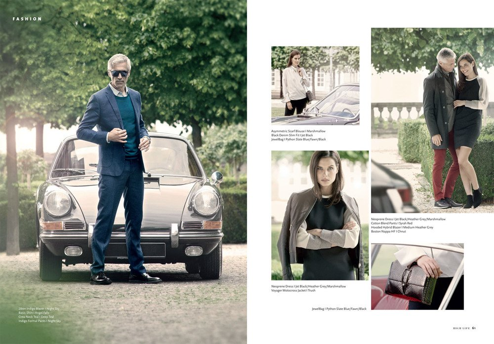 "Mode-Editorial ""Porsche Design"" für HIGH LIFE Magazin"