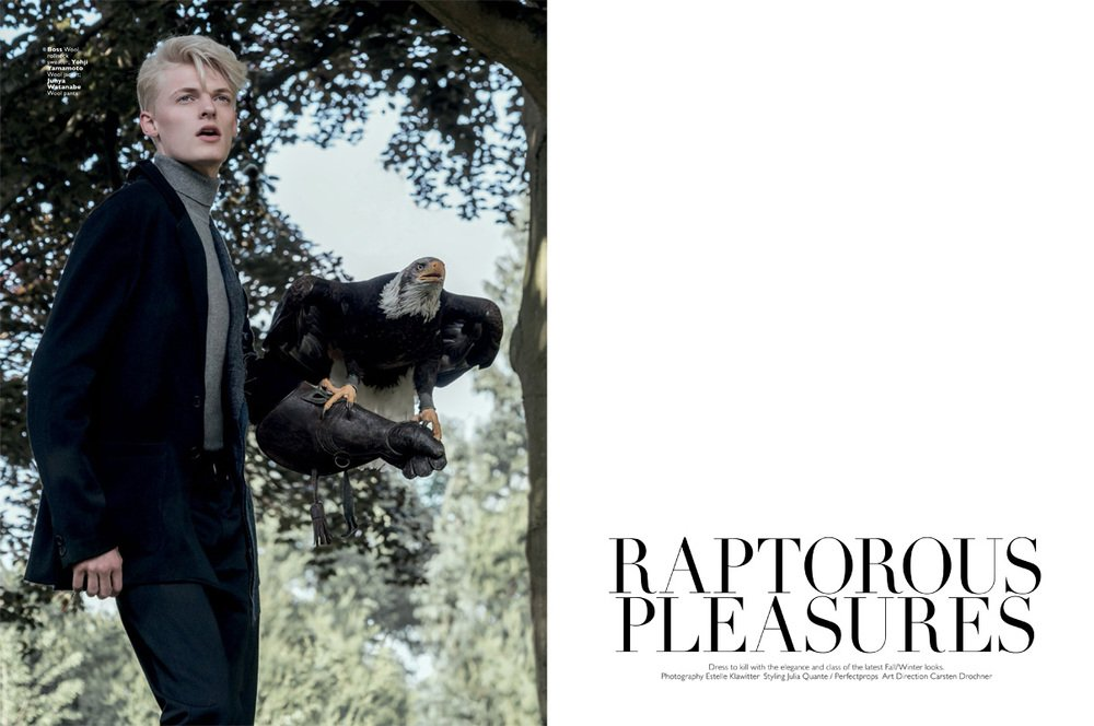 """Mode-Editorial """"Raptorous Pleasures"""" für Men's Folio Singapur, Model: Flemming"""