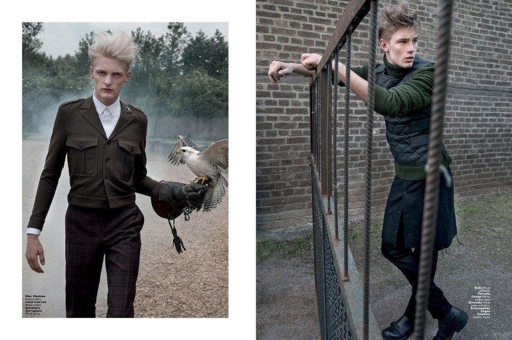"Mode-Editorial ""Raptorous Pleasures"" für Men's Folio Singapur, Models: Flemming & Tommy Marr"