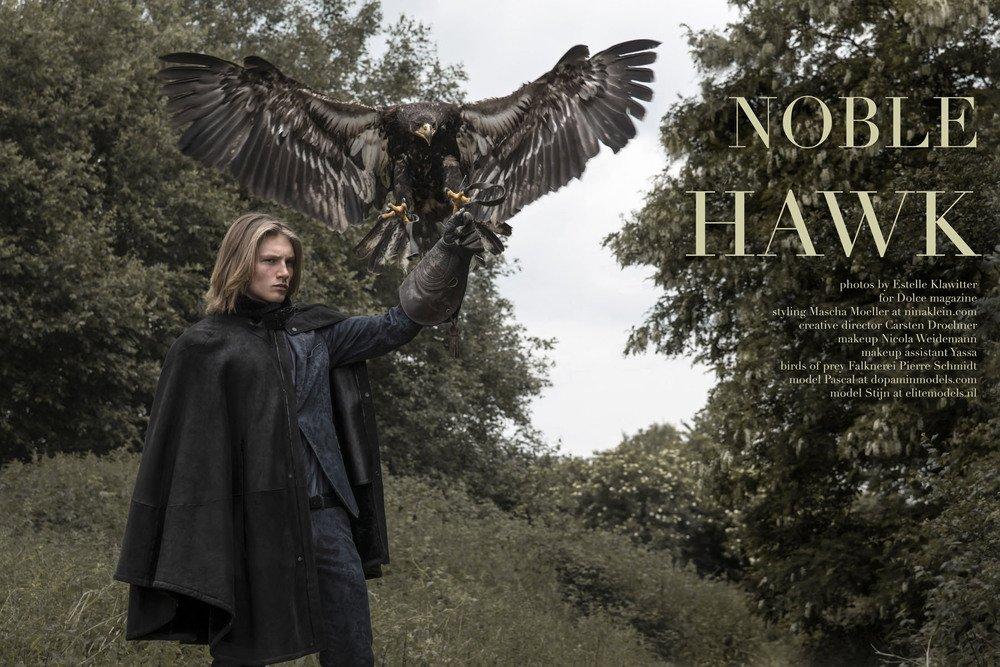 "Mode-Editorial ""Noble Hawk"" für Dolce Vita Luxus-Magazin Kanada, Model: Stijn"