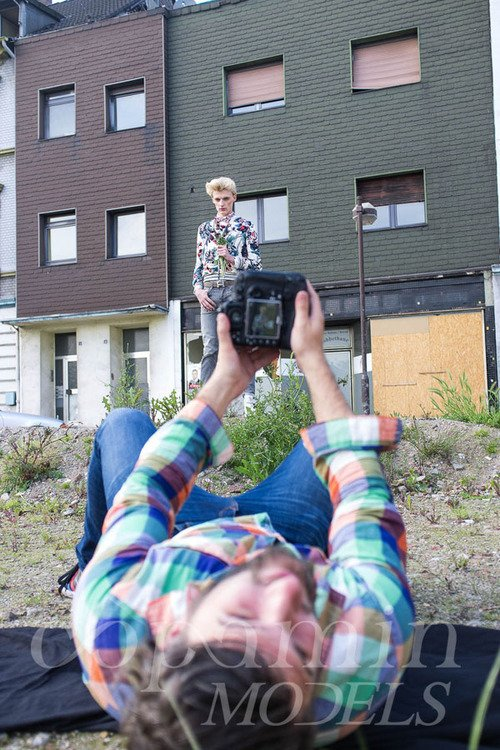 "Flemming @ DOPAMIN MODELS Düsseldorf – making-of Editorial ""FLEURS"" für GUN Magazine, Fotograf: Markus Mielek Dortmund"