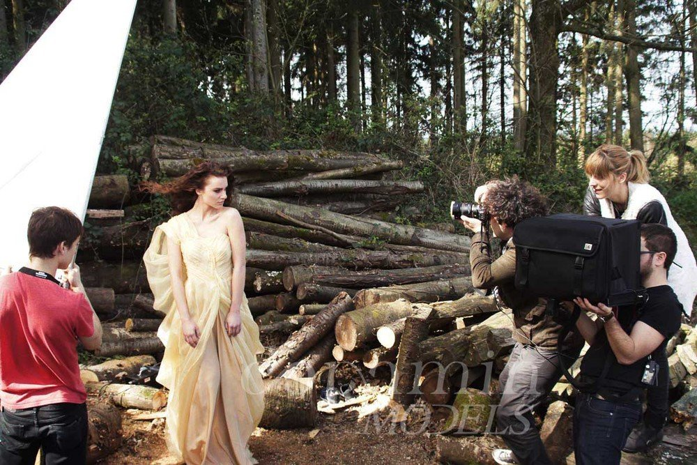"making-of Mode-Editorial ""La Confiance"" für Dolce Vita Luxus-Magazin Kanada, Model: Melanie"