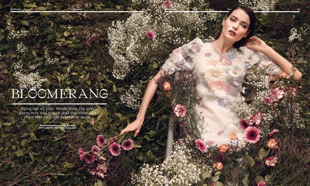 "L'Officiel India Editorial ""Bloomerang"" by Bela Raba München"