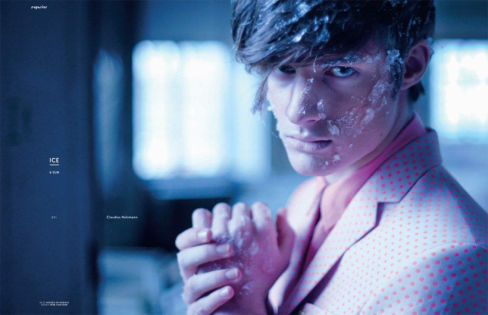 "Dopamin Mode-Editorial ""SUN and ICE"", Model: Dino"